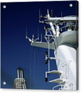 Antennas And Chimneys On A Large Ferry Acrylic Print