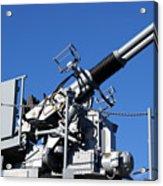 Anti Aircraft Turret Defense Guns On A Navy Ship Acrylic Print