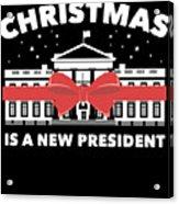 Anti Donald Trump Christmas Edition Vote For Dems Dark Acrylic Print