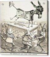 Anti-greenback Cartoon Acrylic Print