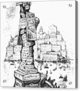 Anti-trust Cartoon, 1889 Acrylic Print by Granger