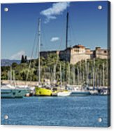 Antibes Fort Carre And Port Vauban  Acrylic Print