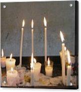 Antigua Church Candles Acrylic Print