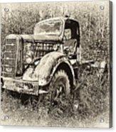 Antique 1947 Mack Truck Acrylic Print