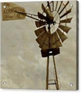 Antique Aermotor Windmill Acrylic Print