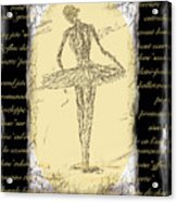 Antique Ballet Acrylic Print