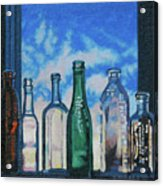 Antique Bottles At Dawn Acrylic Print