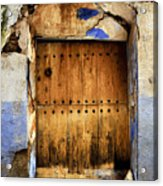 Antique Brown Door Acrylic Print