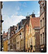 antique building view in Old Town Lille, France Acrylic Print