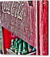 Antique Coca Cola Coke Refrigerator Acrylic Print