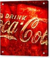 Antique Coca-cola Cooler Acrylic Print