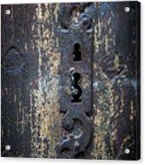 Antique Door Lock Detail Acrylic Print