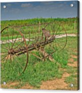 Antique Farm Rake Acrylic Print
