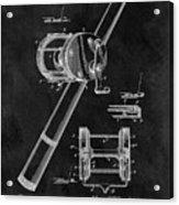 Antique Fishing Reel Patent Acrylic Print