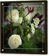 Antique Floral Arrangement Framed Acrylic Print