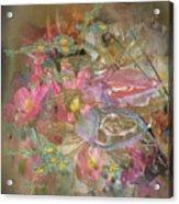 Antique Flowers Acrylic Print
