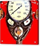 Antique Harley Fuel Tank Acrylic Print