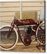 Antique Indian Motorcycle Red...   # Acrylic Print