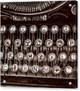 Antique Keyboard - Sepia Acrylic Print