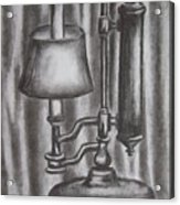 Antique Lamp In Charcoal Acrylic Print