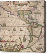 Antique Map Of America Acrylic Print
