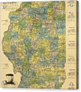 Antique Map Of Indianapolis By The Parry Mfg Company - Historical Map Acrylic Print
