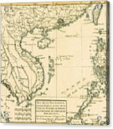 Antique Map Of South East Asia Acrylic Print