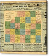 Antique Map Of The Mclean County - Business Advertisements - Historical Map Acrylic Print