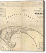 Antique Maps - Old Cartographic Maps - Antique Map Of Cape Cod, Massachusetts, 1836 Acrylic Print