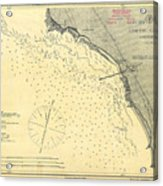 Antique Maps - Old Cartographic Maps - Antique Map Of Lompoc Landing, California, 1888 Acrylic Print