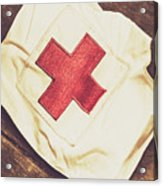 Antique Nurses Hat With Red Cross Emblem Acrylic Print
