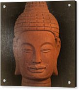antique oil effect Buddha Khmer Acrylic Print