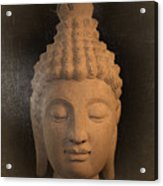 antique oil effect Buddha Sukhothai Acrylic Print