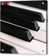 Antique Piano Keys Acrylic Print