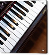 Antique Piano Keys From Above With Hardwood Floor Acrylic Print
