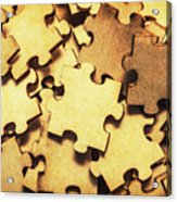 Antique Puzzle Of Missing Links Acrylic Print
