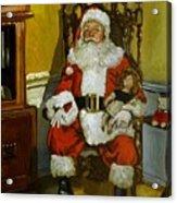 Antique Santa Acrylic Print by Doug Strickland