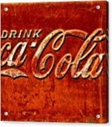 Antique Soda Cooler 3 Acrylic Print