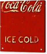 Antique Soda Cooler 6 Acrylic Print