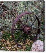 Antique Steel Wagon Wheel Acrylic Print
