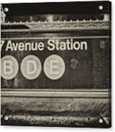 Antique Subway Entrance Acrylic Print by Dick Wood