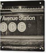 Antique Subway Entrance Acrylic Print