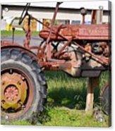Antique Tractor Acrylic Print