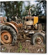 Antique Tractor Acrylic Print