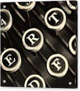 Antique Typewriter Keys Detail Acrylic Print
