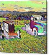 Antique Vehicles Acrylic Print