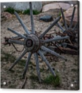 Antique Wagon Wheel Acrylic Print