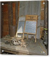 Antique Wash Boards Acrylic Print