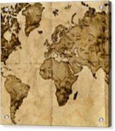 Antique World Map Acrylic Print