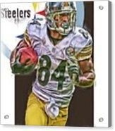 Antonio Brown Pittsburgh Steelers Oil Art 4  Acrylic Print